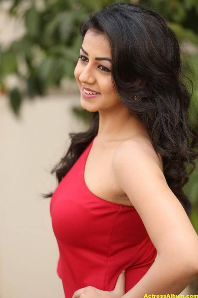 Nikki Galrani Stills Latest Photoshoot In Red Dress 3