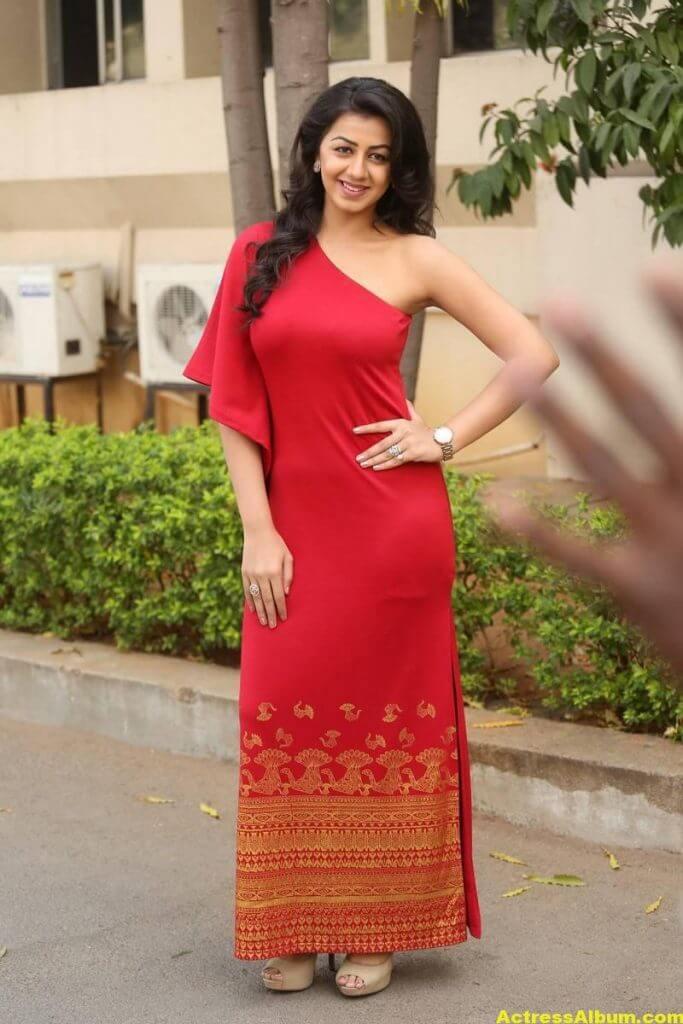 Nikki Galrani Stills Latest Photoshoot In Red Dress 5