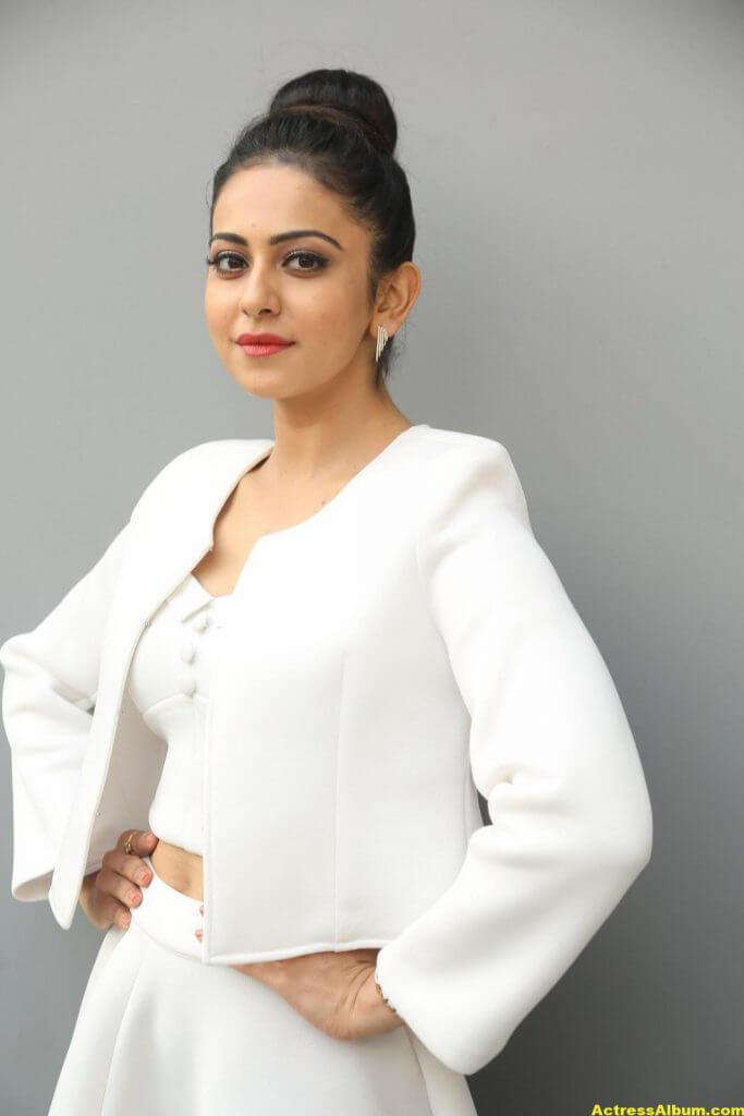 Rakul Preet Hot Photoshoot In White Dress (1)