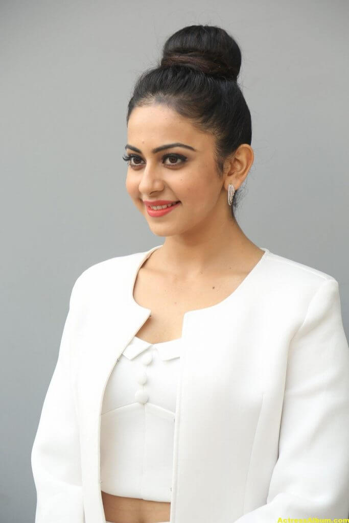 Rakul Preet Hot Photoshoot In White Dress (3)