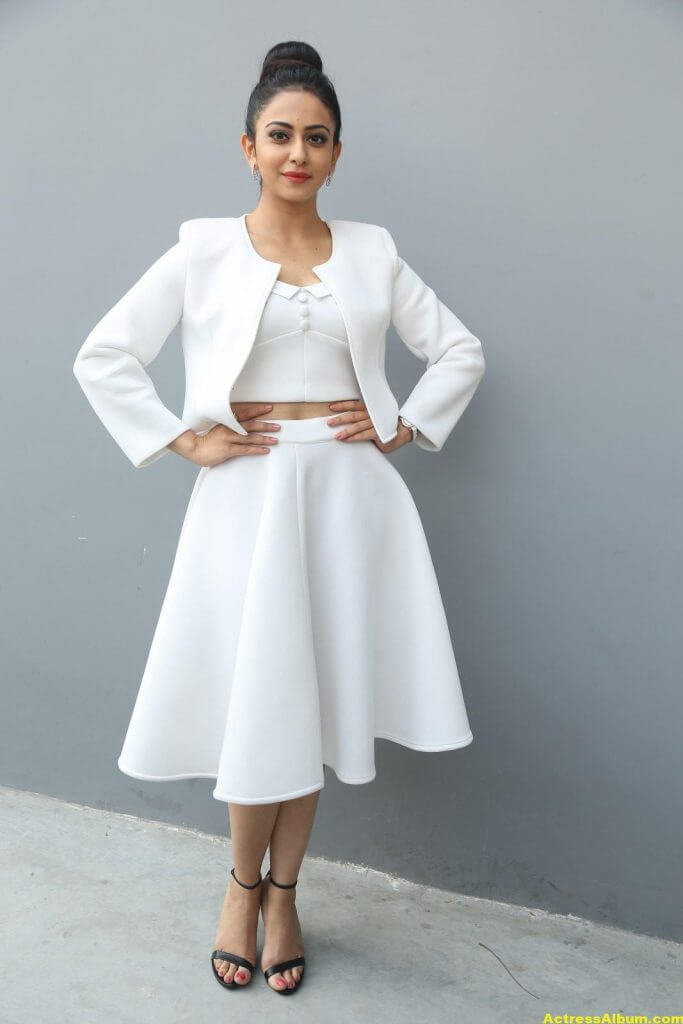 Rakul Preet Hot Photoshoot In White Dress (4)