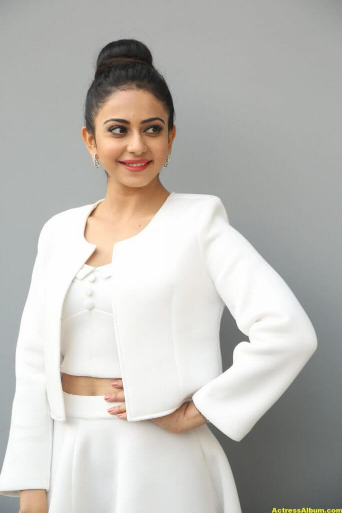 Rakul Preet Hot Photoshoot In White Dress (5)