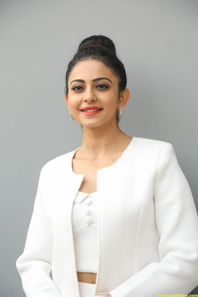 Rakul Preet Hot Photoshoot In White Dress (7)