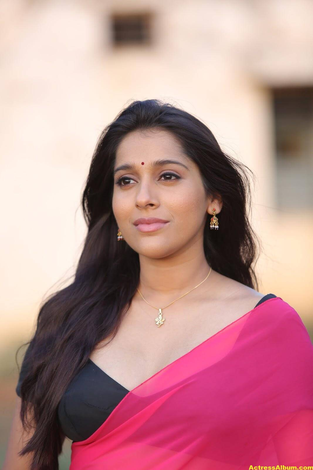 Rashmi Goutham Latest Photoshoot In Pink half Saree 4