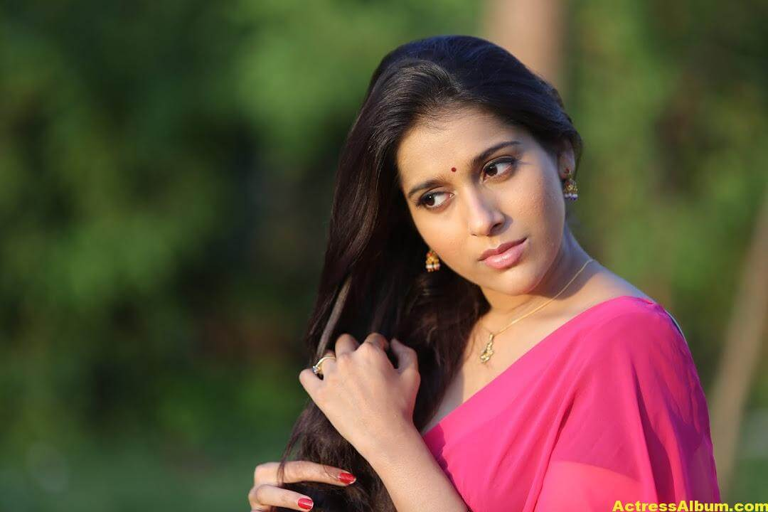 Rashmi Goutham Latest Photoshoot In Pink half Saree 7