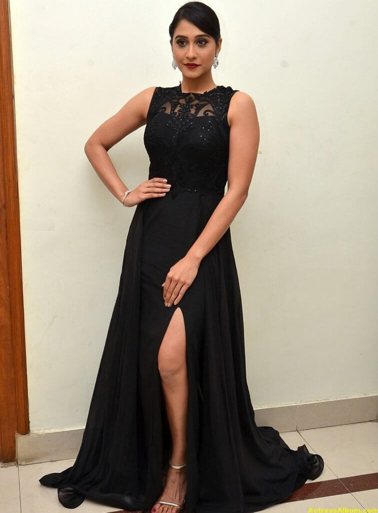 Regina Cassandra Hot Photos In Black Dress 7