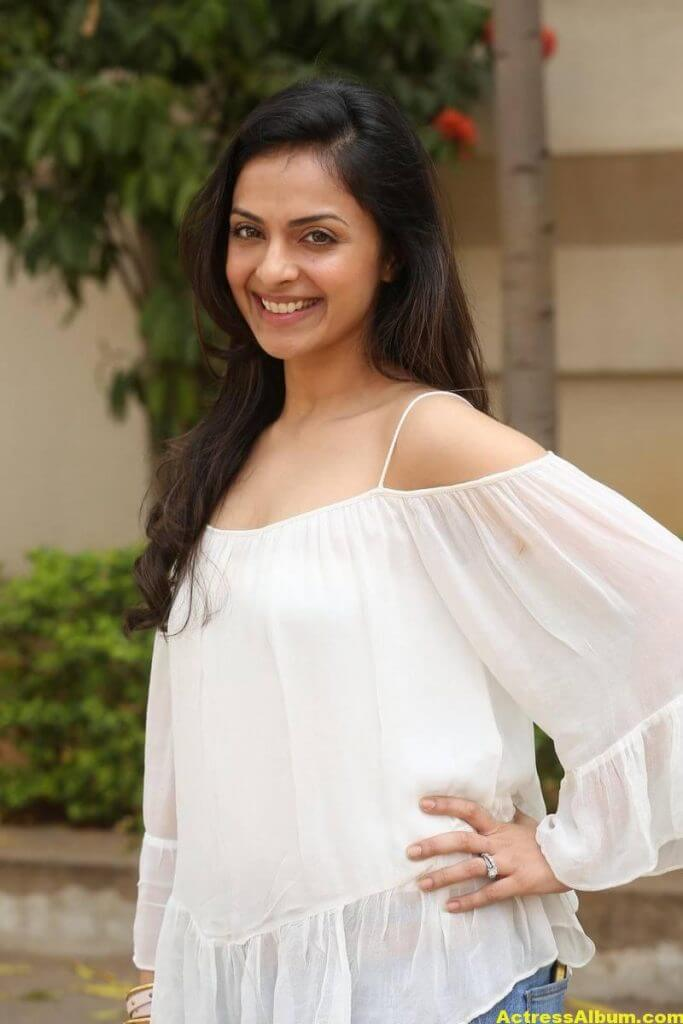 Richa Pallod Latest Hot Photoshoot In White Dress 3