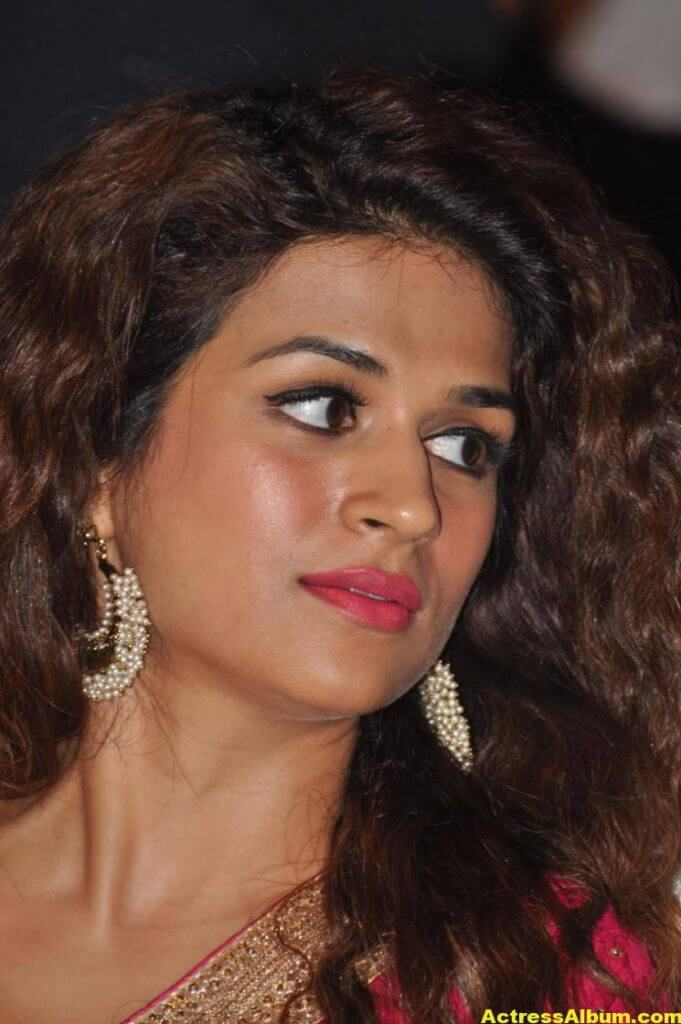 Shraddha Das Latest Hot Stills In Pink Saree (2)