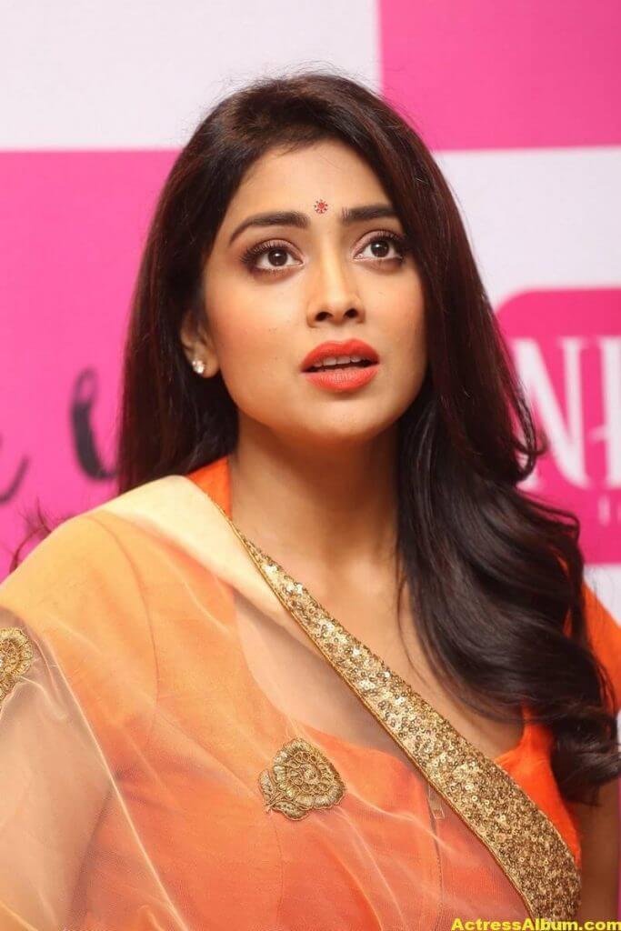 Shriya Saran Latest Photos In Orange Dress 1