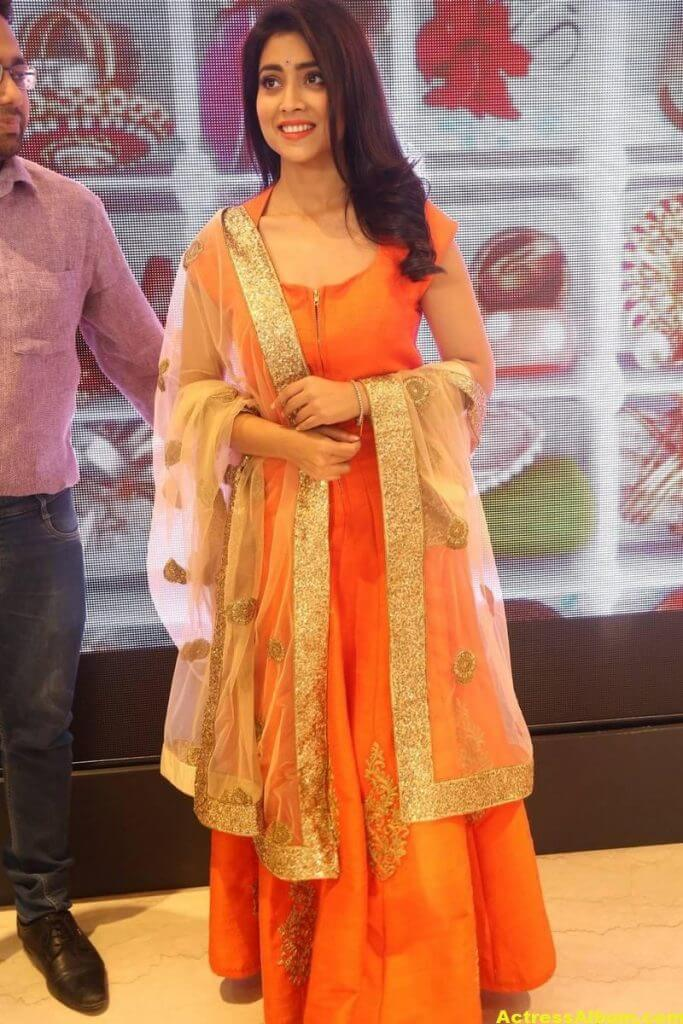 Shriya Saran Latest Photos In Orange Dress 2