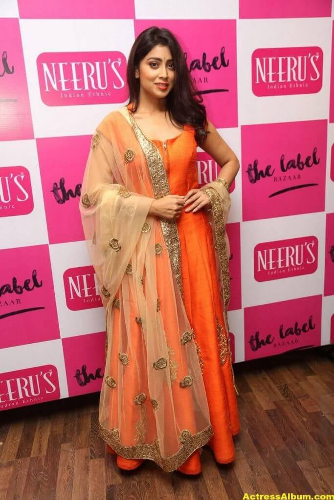 Shriya Saran Latest Photos In Orange Dress 3