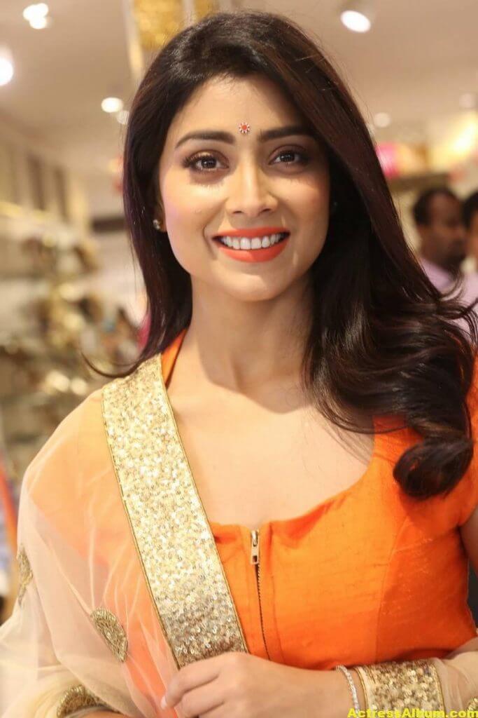 Shriya Saran Latest Photos In Orange Dress 4
