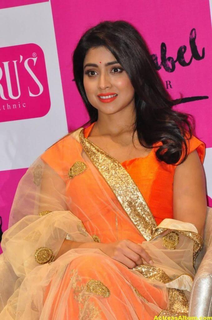 Shriya Saran Latest Photos In Orange Dress 6