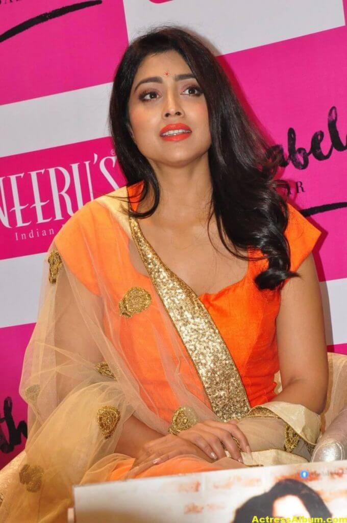 Shriya Saran Latest Photos In Orange Dress 7