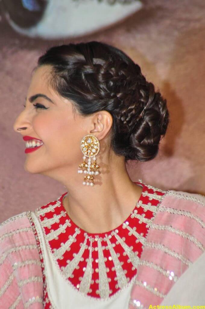 Sonam Kapoor Smiling Hot Stills In White Dress 6