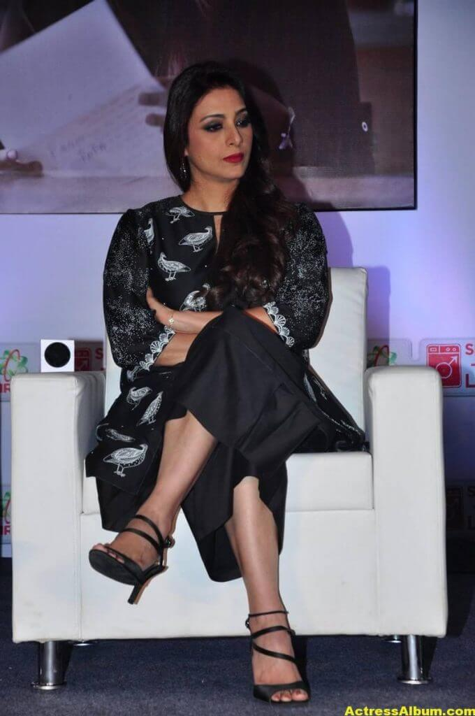 Tabu Latest Hot Stills In Black Dress (2)
