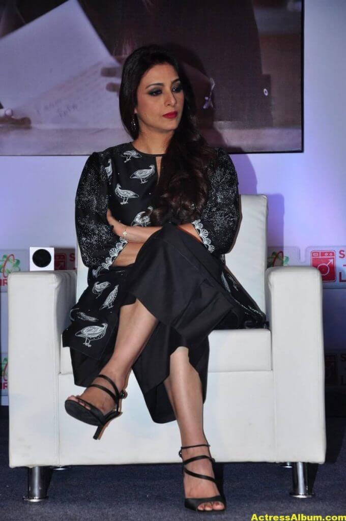 Tabu Latest Hot Stills In Black Dress (2)