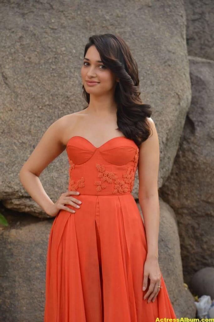 Tamanna Latest Hot Stills In Orange Top (1)