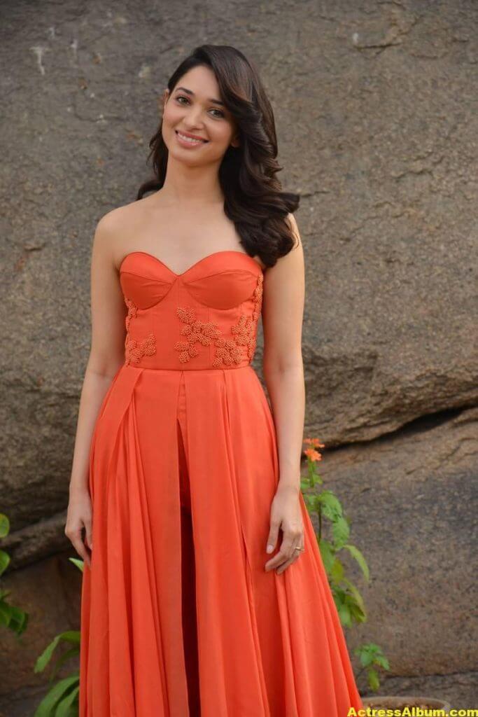 Tamanna Latest Hot Stills In Orange Top (5)