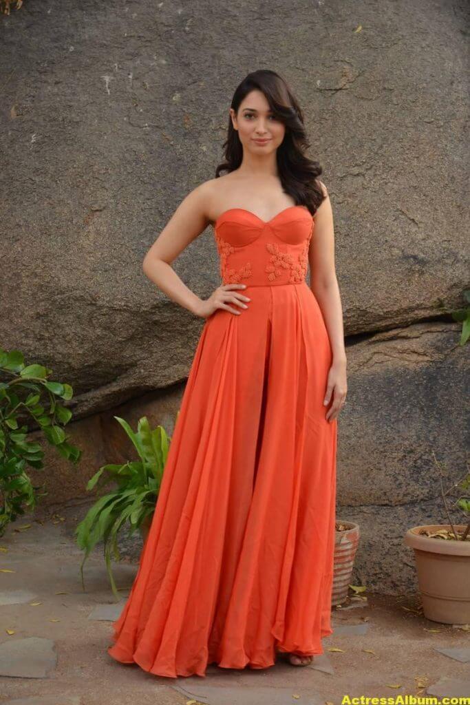 Tamanna Latest Hot Stills In Orange Top (6)