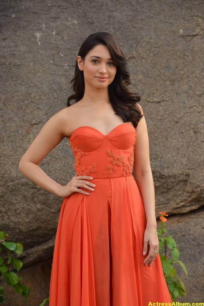 Tamanna Latest Hot Stills In Orange Top (7)