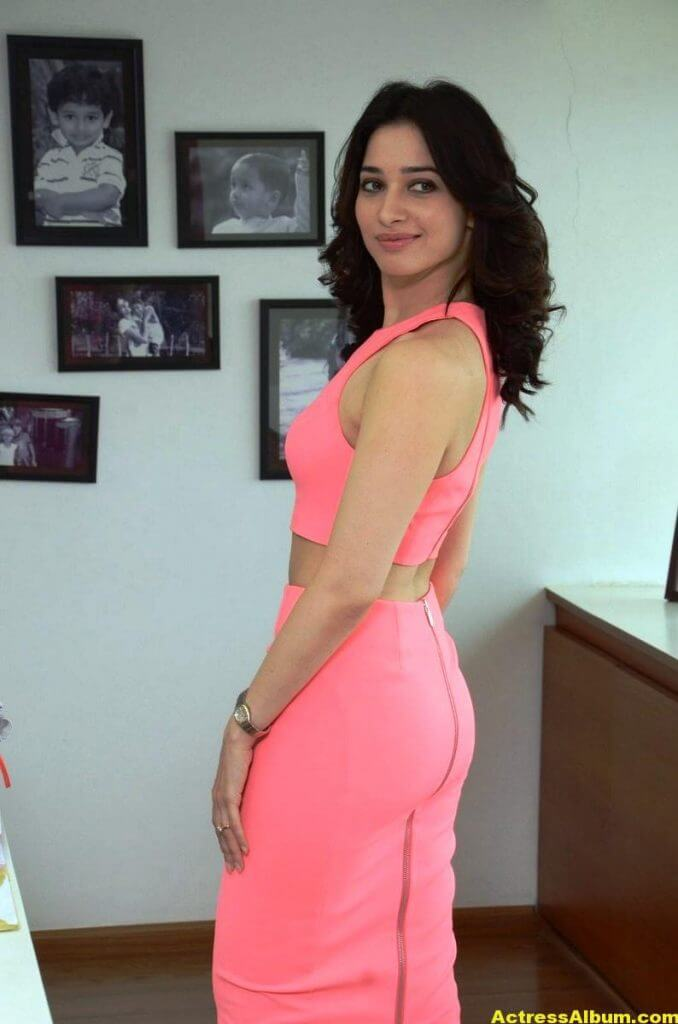 Tamanna Stills From Oopiri Movie In Pink Dress (2)
