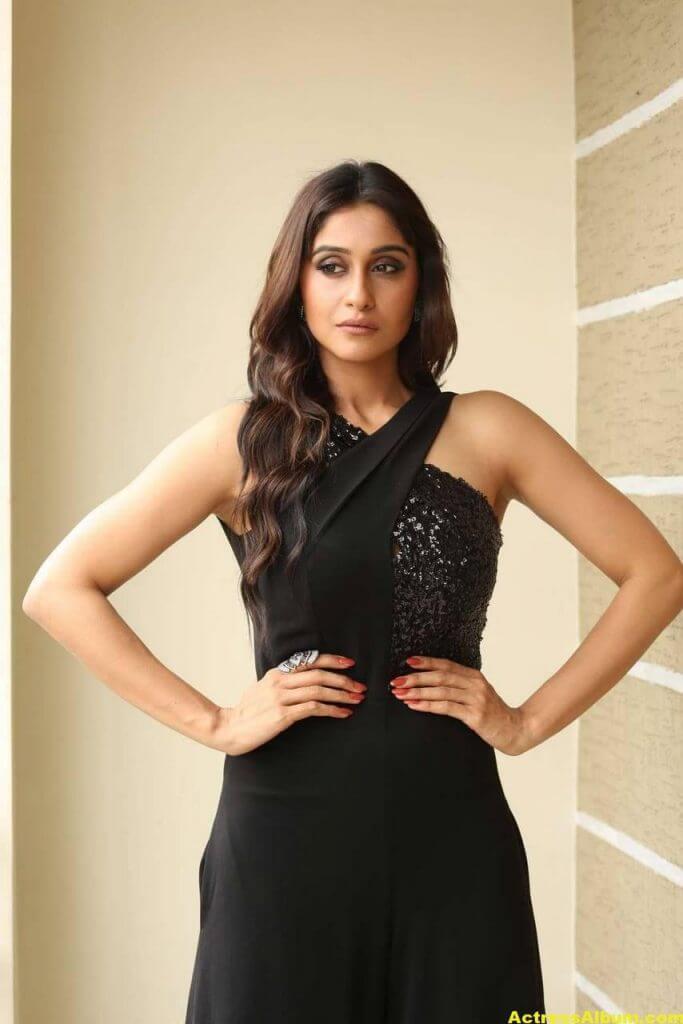 Tamil Actress Regina Cassandra Hot Photos In Black Dress 9