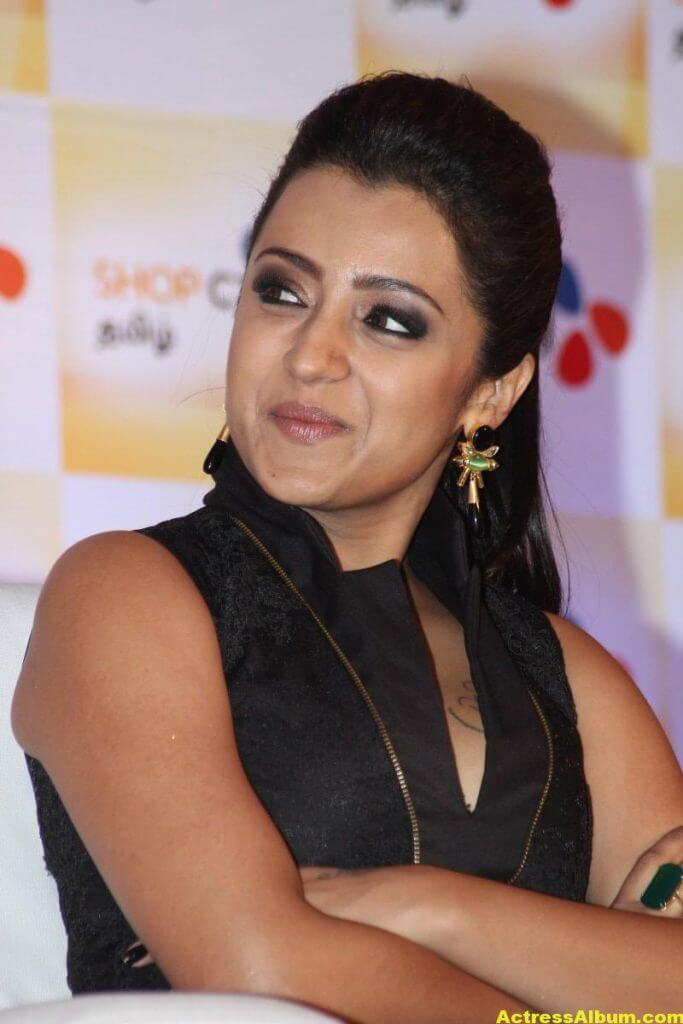 Trisha Latest Beautiful Stills In Black Dress 3