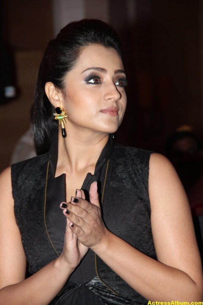 Trisha Latest Beautiful Stills In Black Dress 4