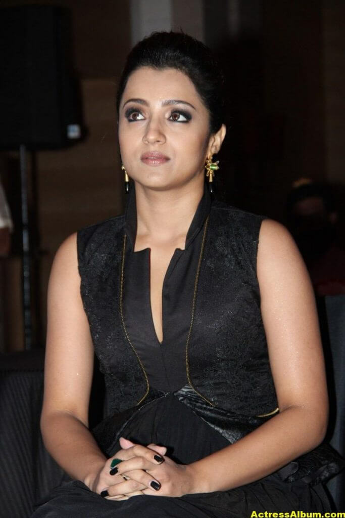Trisha Latest Beautiful Stills In Black Dress 5