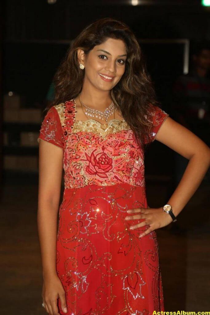 Tv Actress Karuna Latest Photos In Red Dress 3