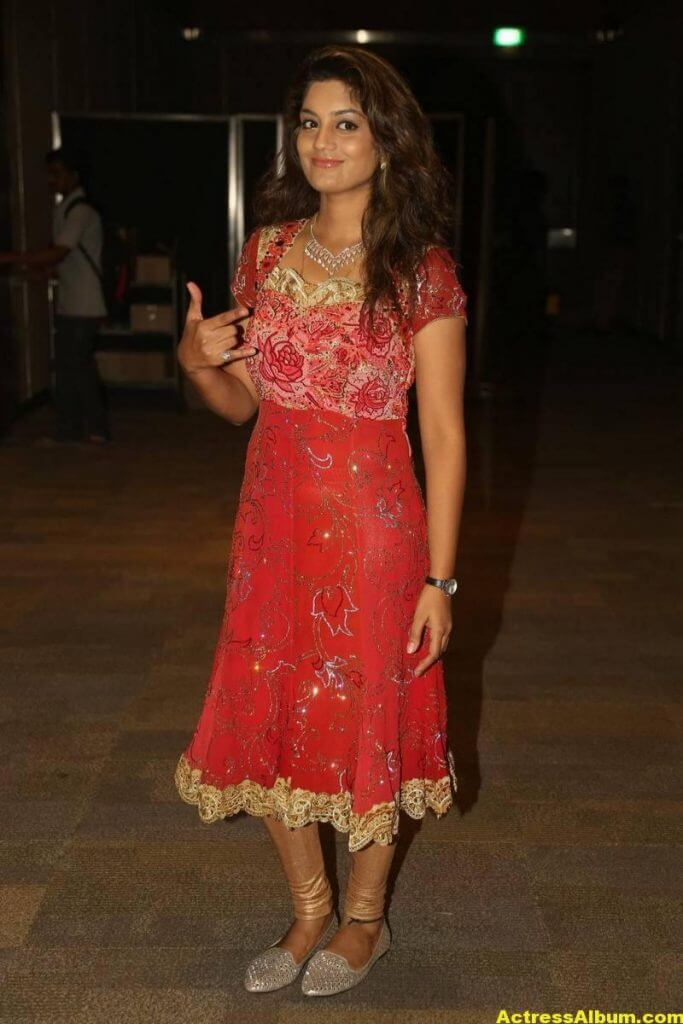 Tv Actress Karuna Latest Photos In Red Dress 4