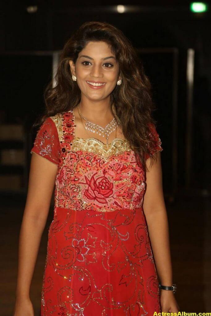 Tv Actress Karuna Latest Photos In Red Dress 5