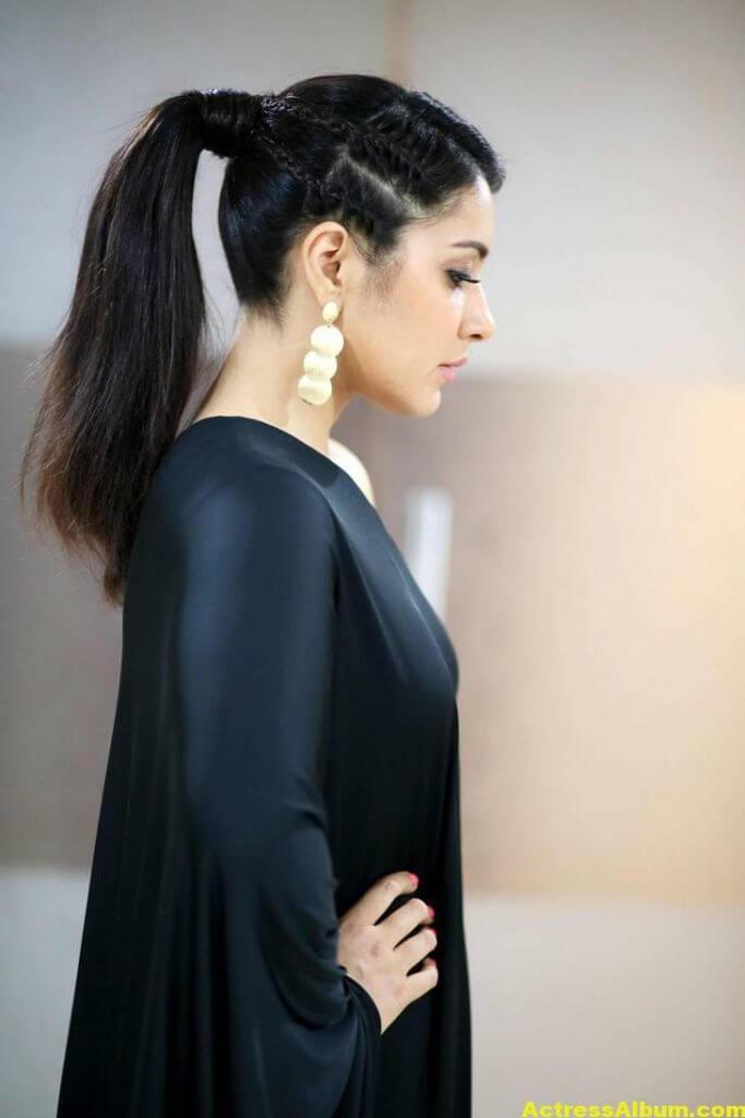 Actress Rashi Khanna Hot In Black Dress 5