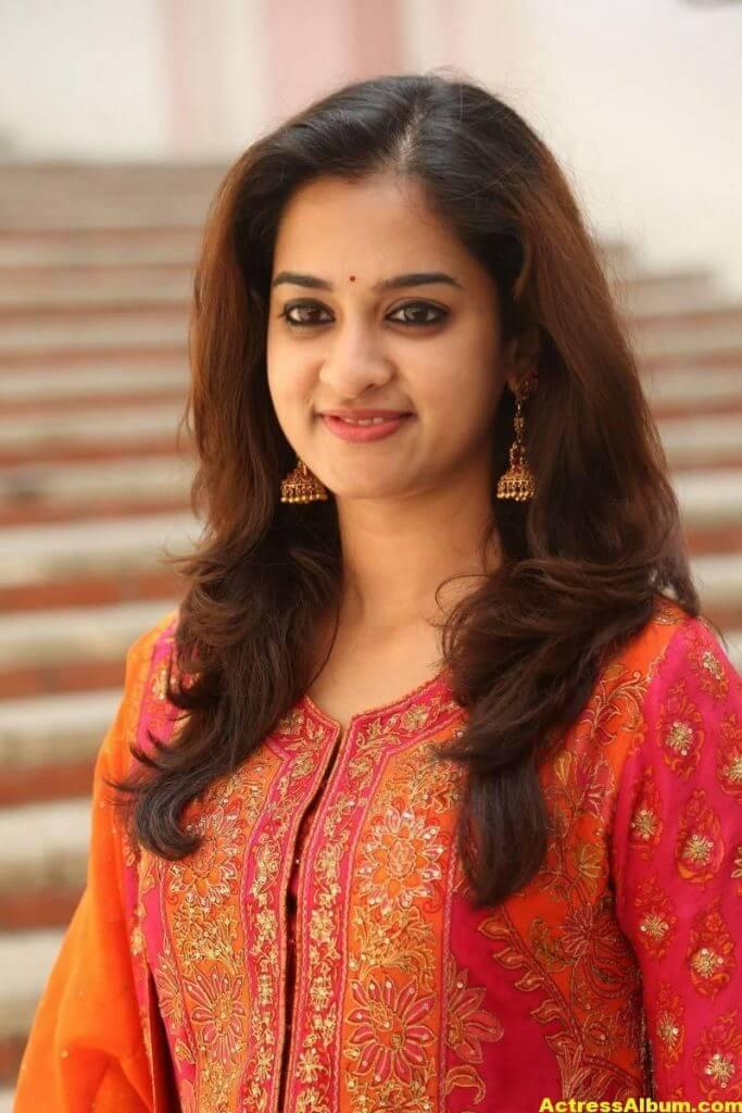 Nanditha Latest Photos In Orange Dress (1)