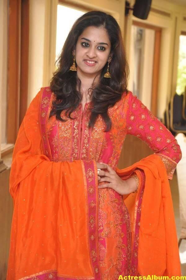 Nanditha Latest Photos In Orange Dress (2)
