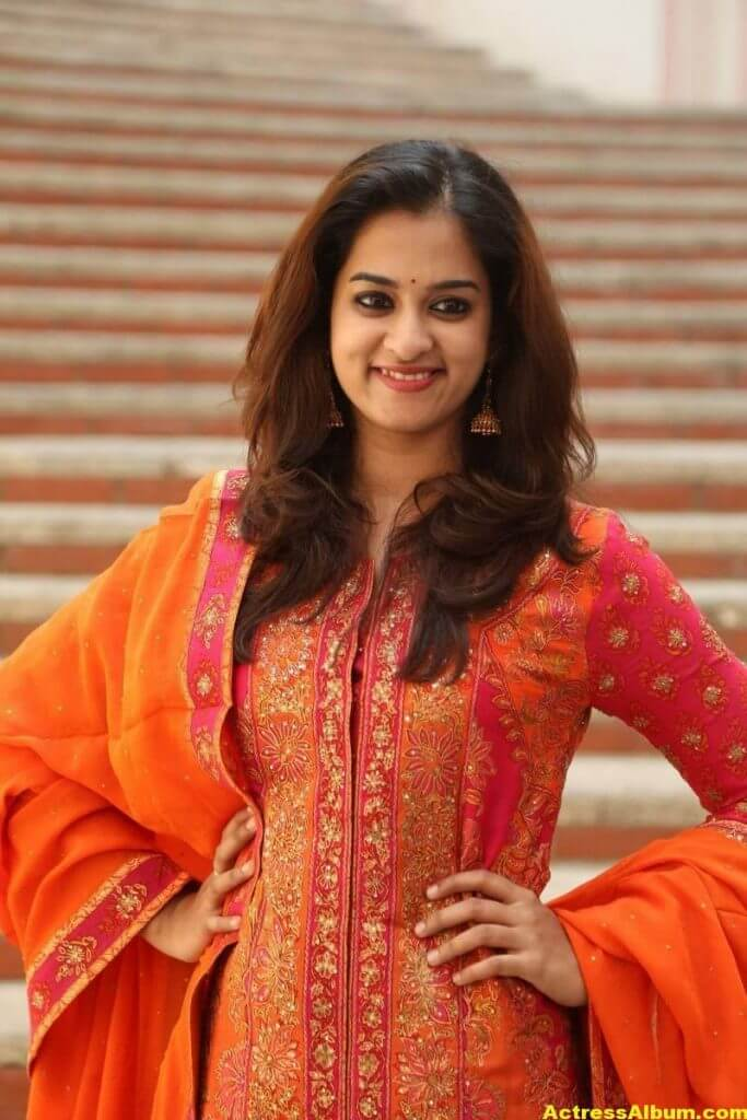 Nanditha Latest Photos In Orange Dress (4)