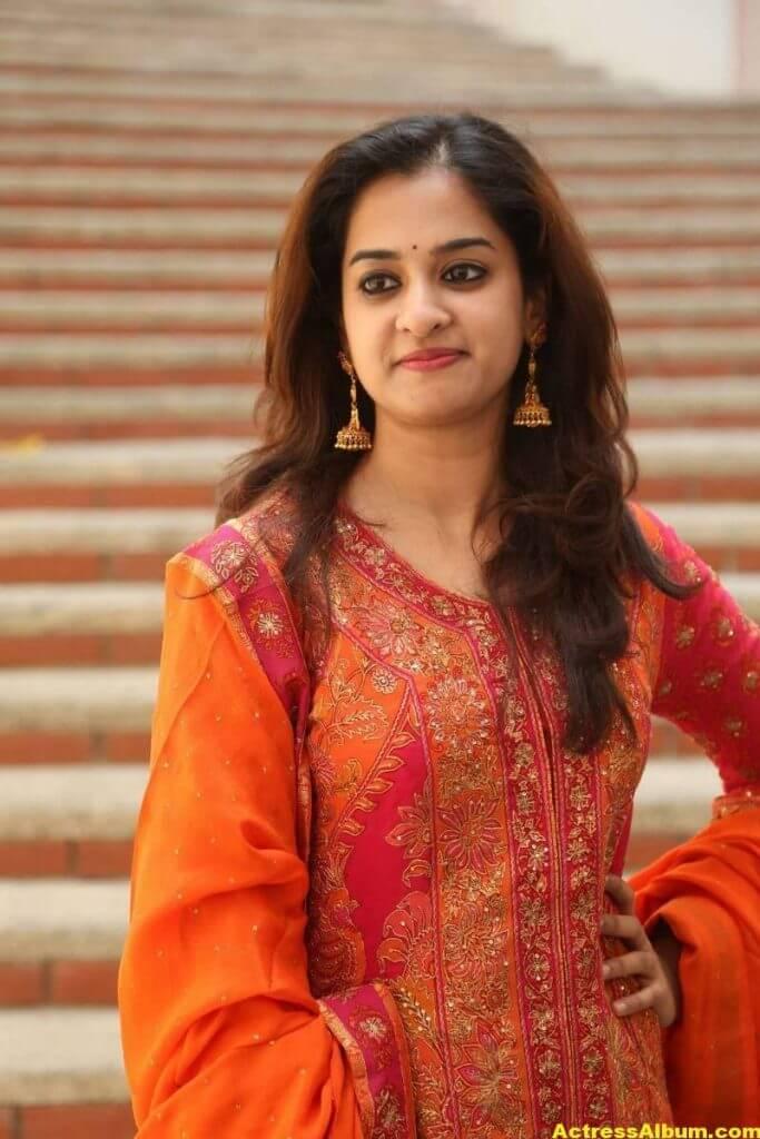 Nanditha Latest Photos In Orange Dress (5)