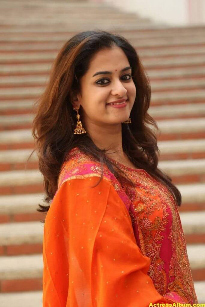 Nanditha Latest Photos In Orange Dress (6)