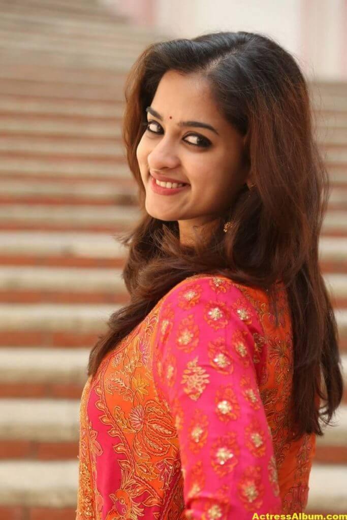 Nanditha Latest Photos In Orange Dress (7)