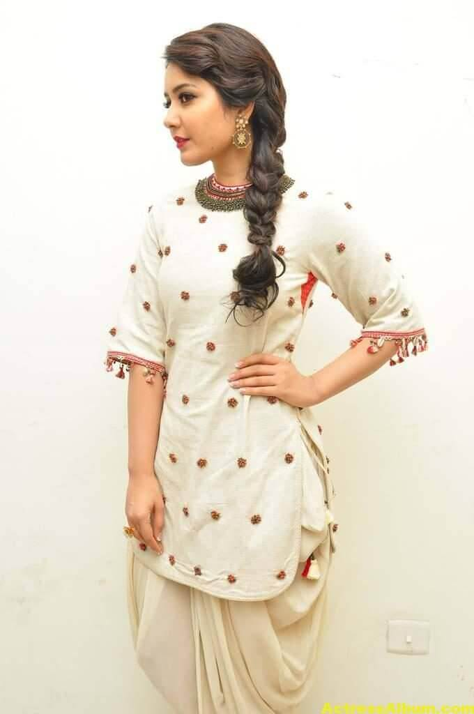 Rashi Khanna In White Dress 5