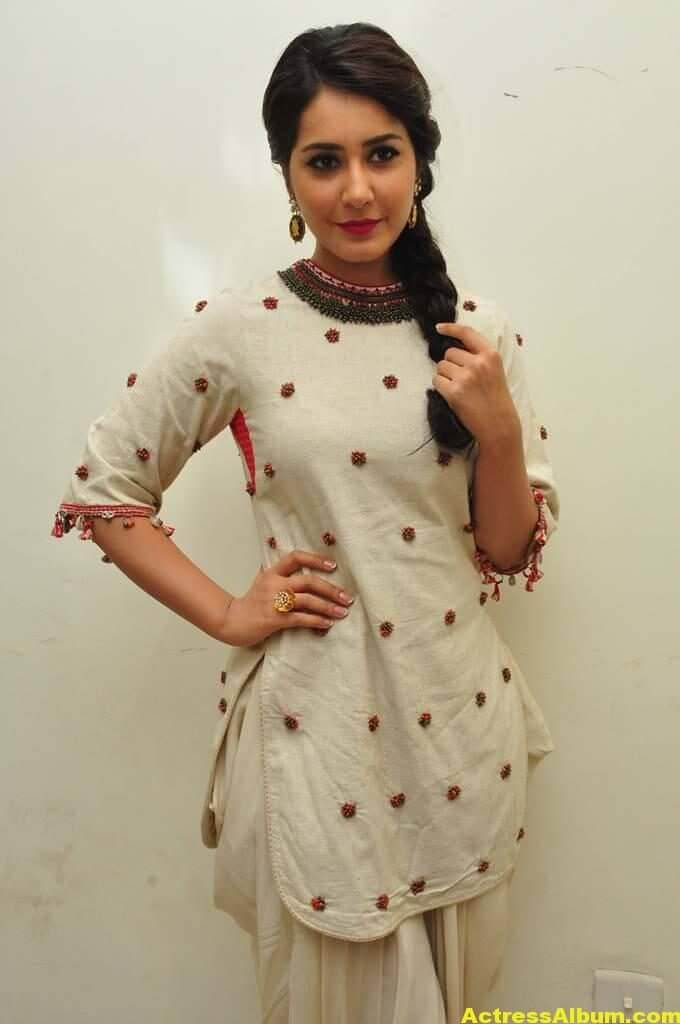Rashi Khanna In White Dress 7