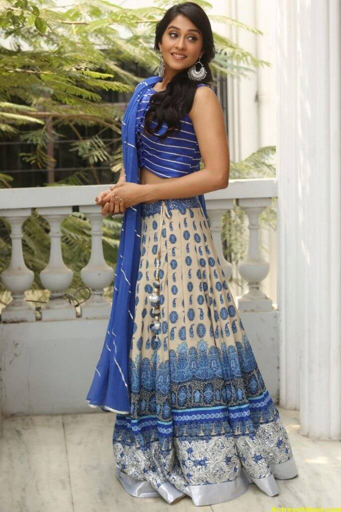 Regina Hot Photos In Blue Dress 5