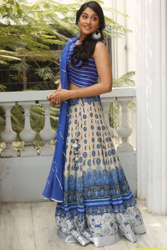 Regina Hot Photos In Blue Dress 5