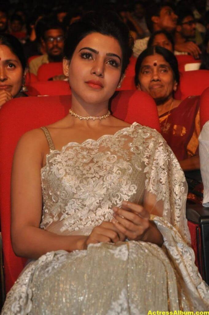 Samantha In White Saree At 24 Movie Audio Launch 5