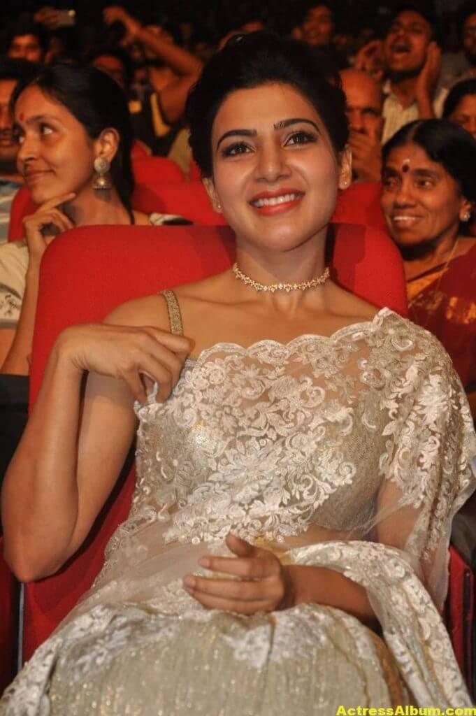 Samantha In White Saree At 24 Movie Audio Launch 6
