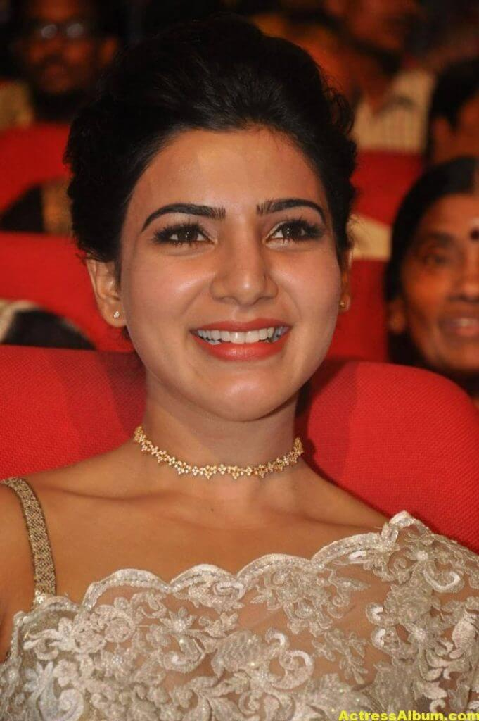 Samantha In White Saree At 24 Movie Audio Launch 7