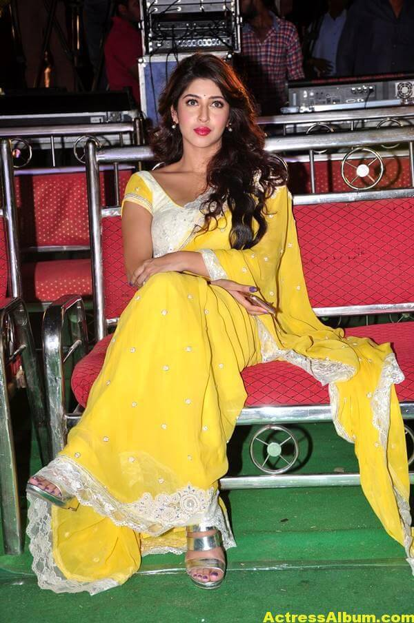 Sonarika Latest Images In Yellow Saree 2
