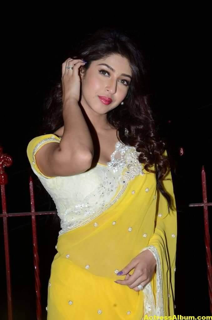 Sonarika Latest Images In Yellow Saree 8