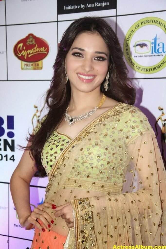 Tamanna Gorgeous In Saree Stills 1